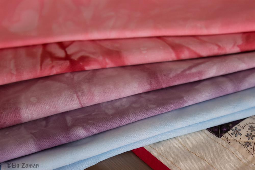 tkaniny farbowane ręcznie