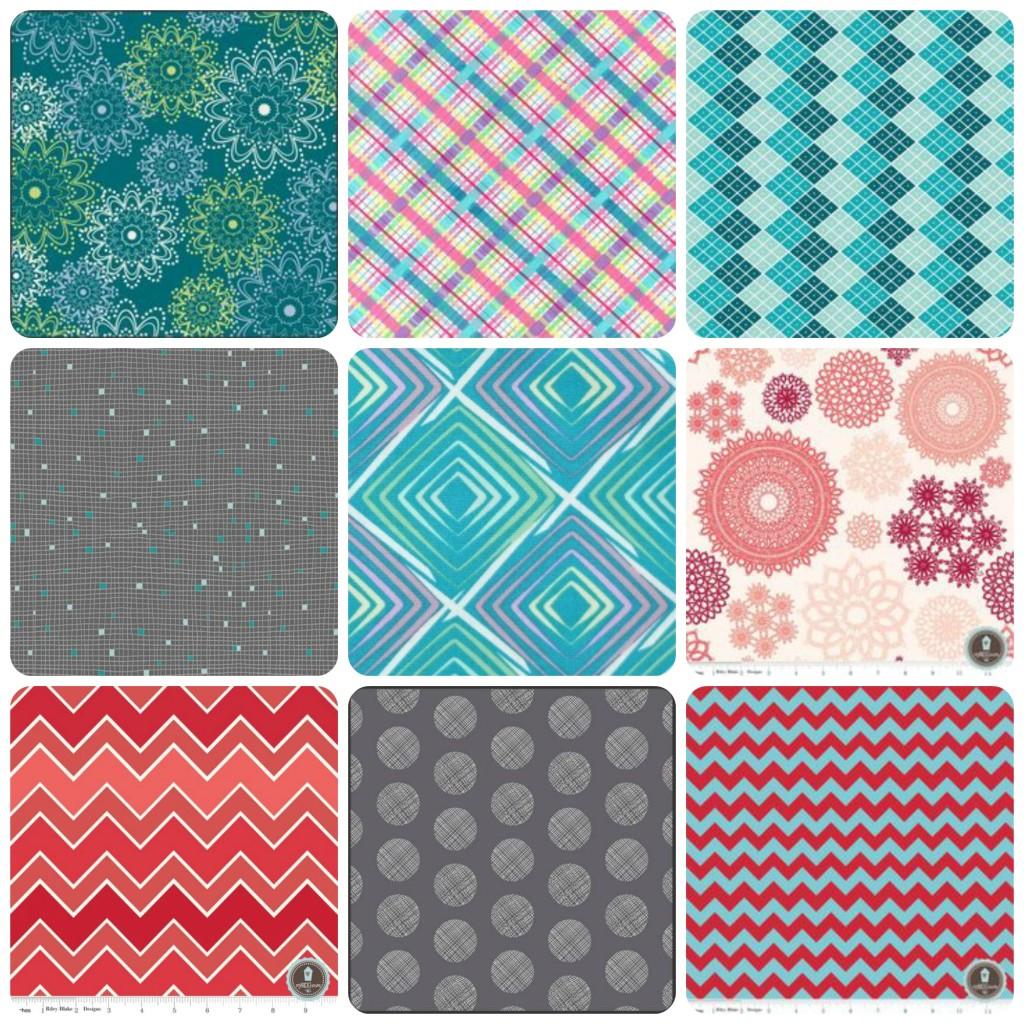 kolaż tkaniny patchworkowe z polskichsklepow