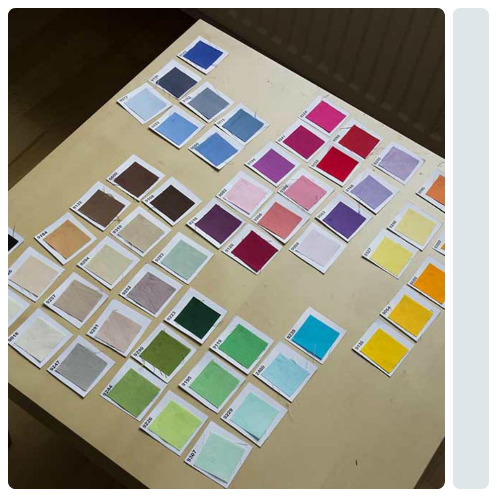 wzornik tkanin jednokolorowych