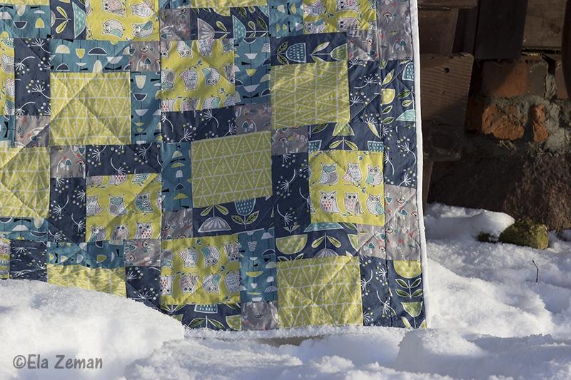 patchworkowa kołderka