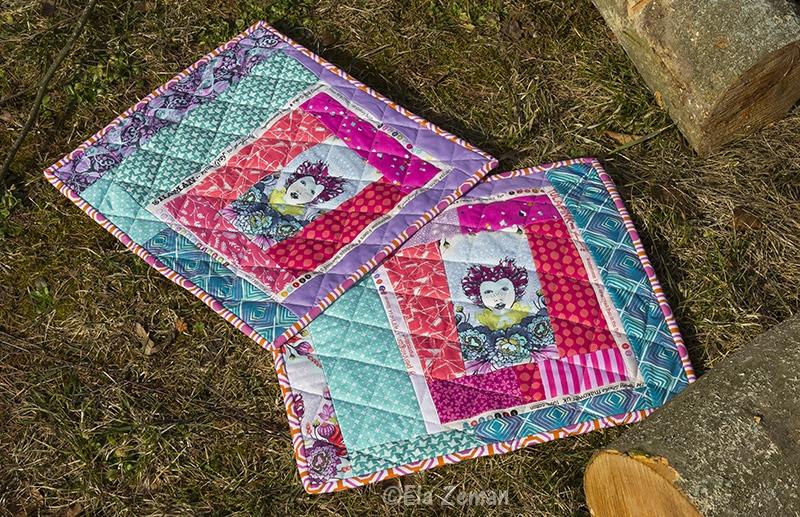 patchworkowe podkładki stołowe