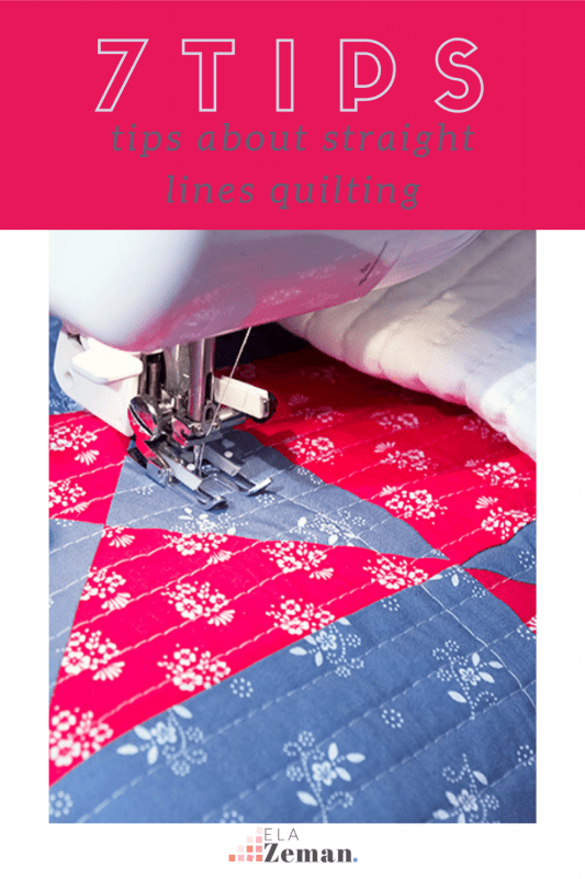 7 tips about straight lines quilting