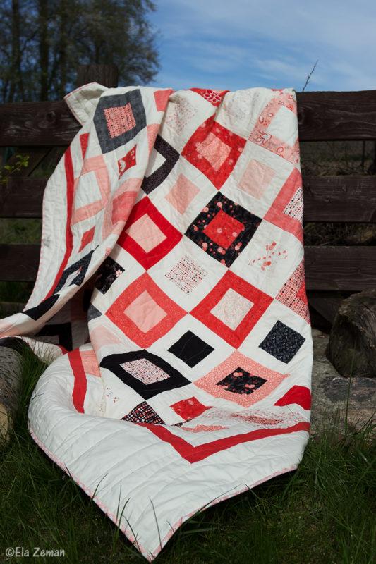 Romantyczna narzuta patchworkowa  elazeman