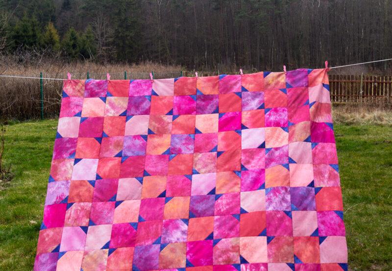 zestaw  pasujących do siebie tkanin - gotowy top