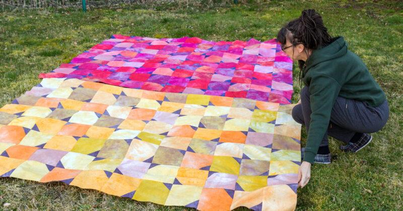 jak uszyć prosty patchwork