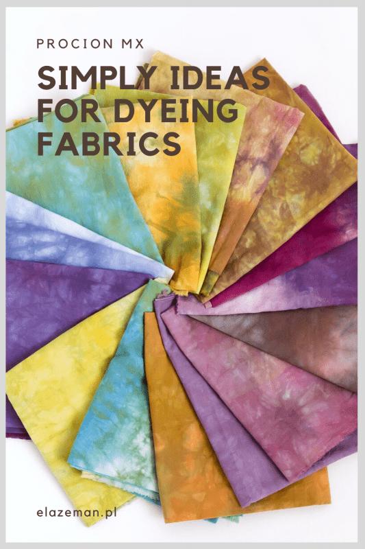 dyeing fabrics procion