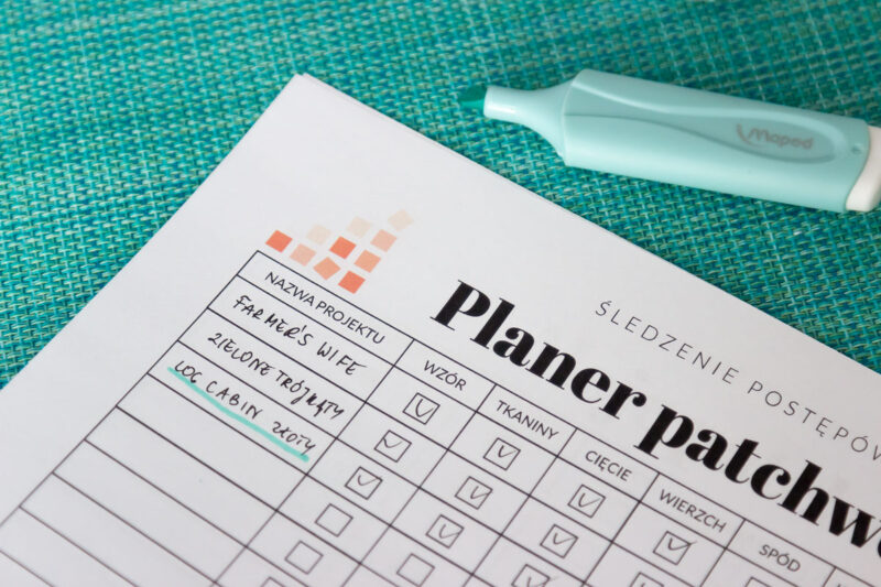 Planer patchworkowy