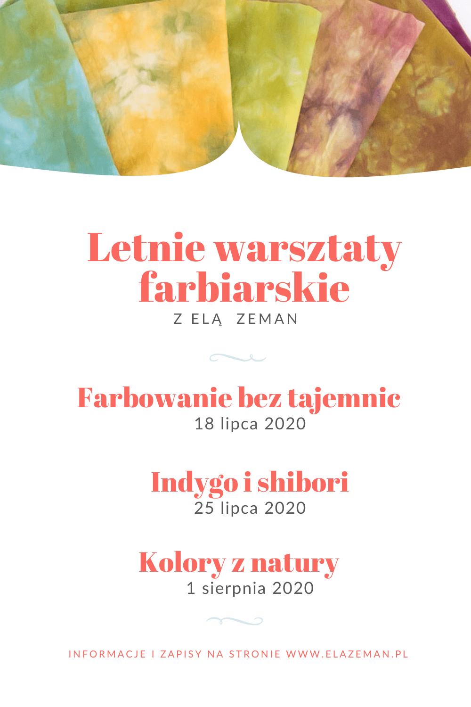 Letnie warsztaty Farbiarskie 2020