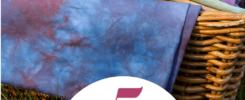 5 porad Jak przygotować zestaw pasujących tkanin farbowanych