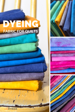 Dyeing fabric for quilts