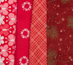 czerwone tkaniny
